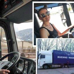 Sunkvežimių vairuotoja Indrė: dar neaišku, kas vairuoja geriau