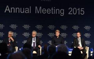 Prezidentė Dalia Grybauskaitė Pasaulio ekonomikos forumo diskusijoje