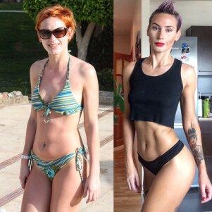 """Kardinaliai savo kūną pakeitusi Simona Mužaitė: """"Merginos bijo svarmenų, bet vien aerobika kūno nepadailinsi"""""""
