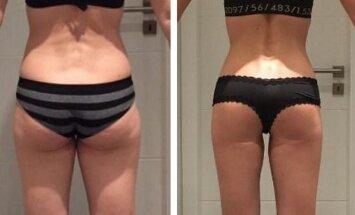 Kaip šiai 39 metų moteriai pavyko suformuoti tobulą užpakaliuką