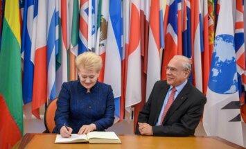 Prezidentė susitinka su Ekonominio bendradarbiavimo ir plėtros organizacijos (EBPO) generaliniu sekretoriumi Angeliu Gurria