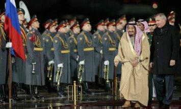 Saudo Arabijos karalius Salmanas atvyko į Rusiją