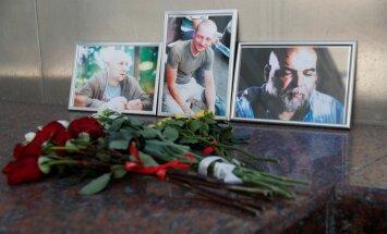 Maskvoje atsisveikinama su CAR žuvusiais žurnalistais