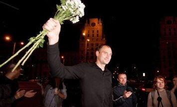 Александр Отрощенков вышел на свободу. Фото Радыё Свабода