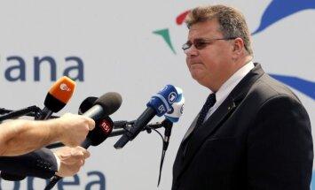 Linas Linkevičius ES užsienio reikalų ministrų susitikime Briuselyje