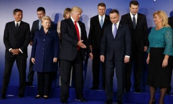 D. Trumpas susitiko su rytų Europos šalių lyderiais