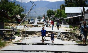 Indonezijoje policija sulaikė dešimtis marodierių po virtinės stichinių nelaimių