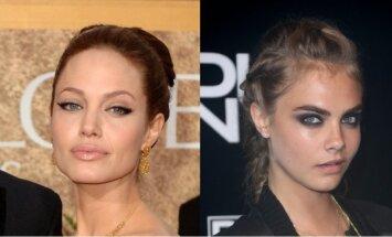 Angelina Jolie ir Cara Delevingne