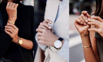 Kasdieninės aprangos įvaizdžio prabanga – auksiniai žiedai