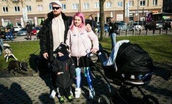 D. Čečkauskas ir R. Jankauskaitė su šeima