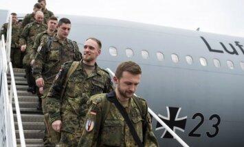 Solders of Bundeswher landing in Lithuania