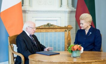 Michaelas D. Higginsas, Dalia Grybauskaitė
