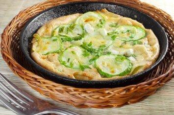 Cukinijos ir sūrio pyragas: linkime skanaus
