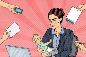Po gimdymo – iš karto atgal į darbus: psichologės komentaras