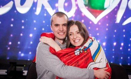 Ieva Zasimauskaitė-Kiltinavičienė su vyru Mariumi