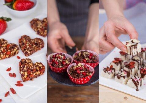 3 sveiki saldumynai, kurių nereikia kepti, o rezultatas – puikiausias