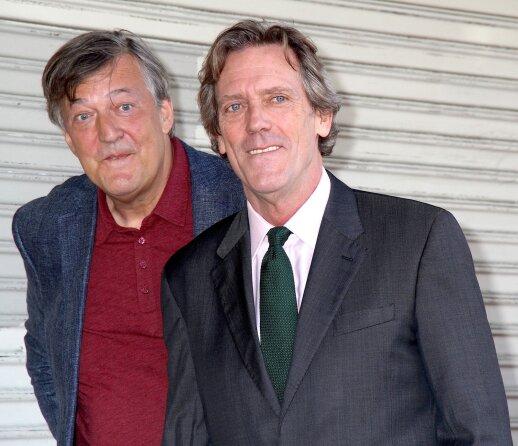 Hugh Laurie su draugu