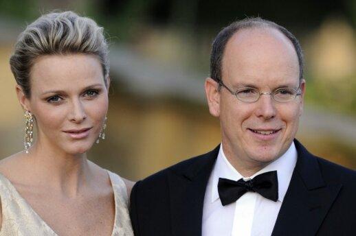 Monako princas Albertas su žmona Charlene