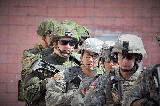 Lietuvos ir JAV karių pratybos mūšis mieste
