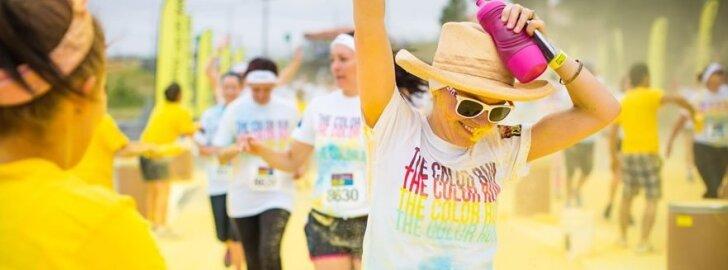 Savaitgalį Vilniuje spalvotame bėgime dalyvaus net ir tie, kas nemėgsta bėgioti