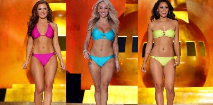 """""""Miss Amerika"""" dalyvės - ne <span style=""""color: #c00000;"""">kaulų rinkinukai</span> (foto)"""