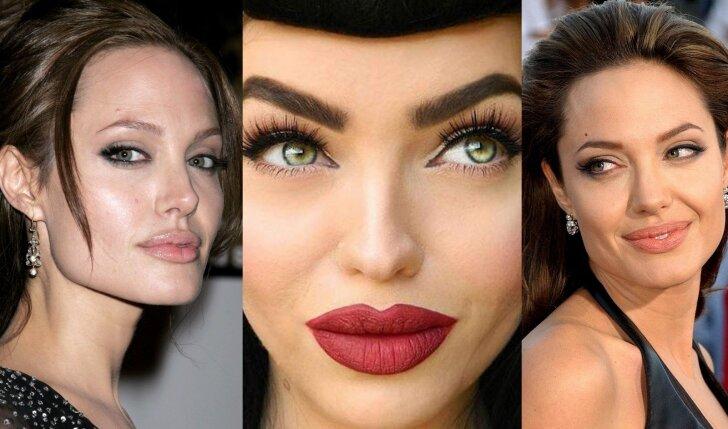 Angelinos Jolie veido bruožus turinti grožio blogerė makiažu kuria meno šedevrus (FOTO)