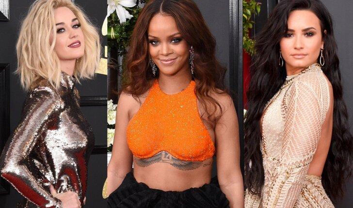 """""""Grammy"""" apdovanojimuose nuo Rihannos nebuvo galima atitraukti akių (FOTO)"""