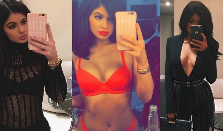 Kylie Jenner figūros pokyčiai: iš pieštuko į bombą (FOTO)