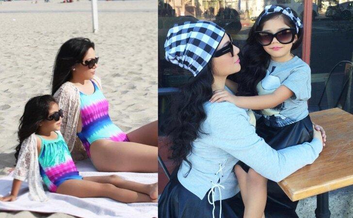 Supermamytė, kuri kaskart derina savo ir dukros aprangą bei makiažą