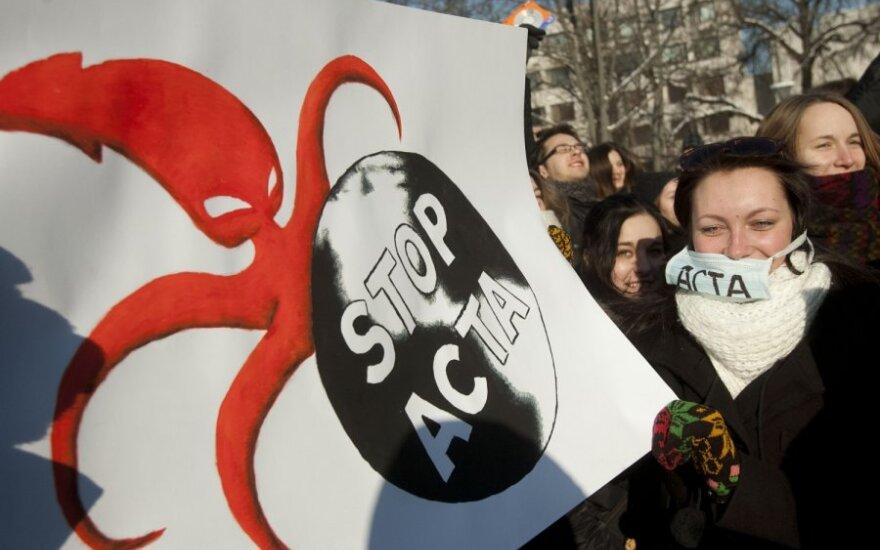 Protesto akcija prieš ACTA