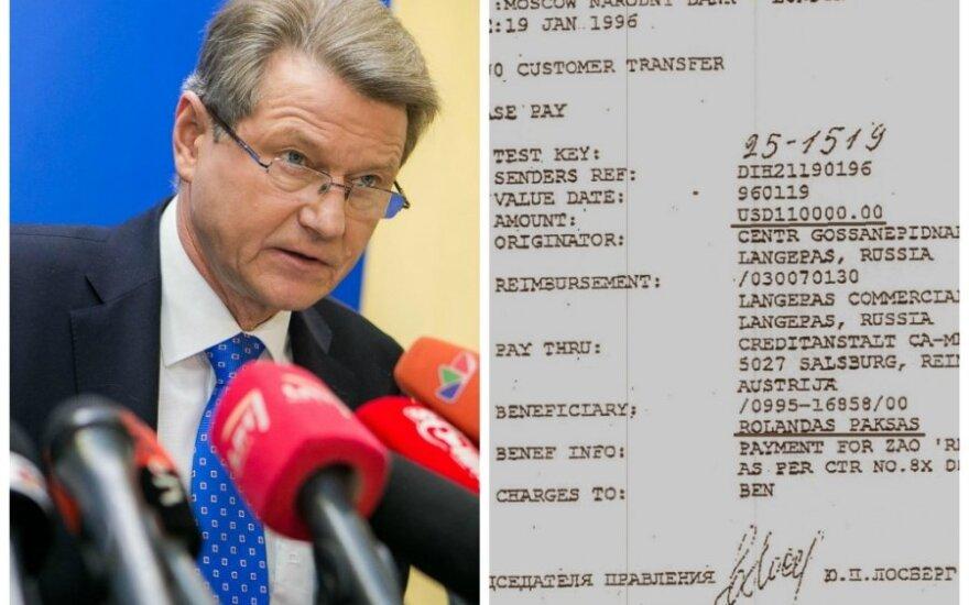 Į Rolando Pakso sąskaitą Austrijoje keliavo pinigai iš Rusijos