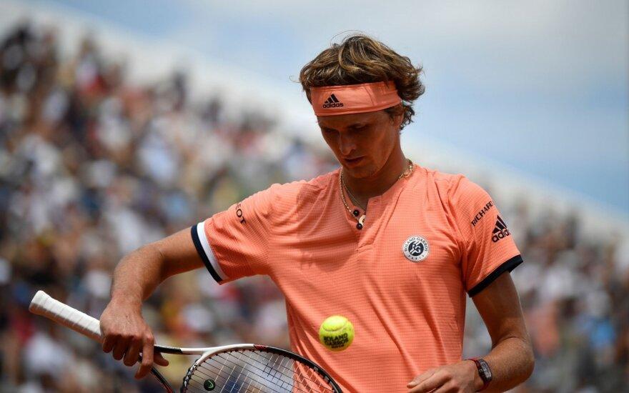"""""""French Open"""": Alexanderis Zverevas"""