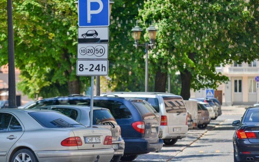 В центре Каунаса планируется установить 130 новых платных парковочных мест