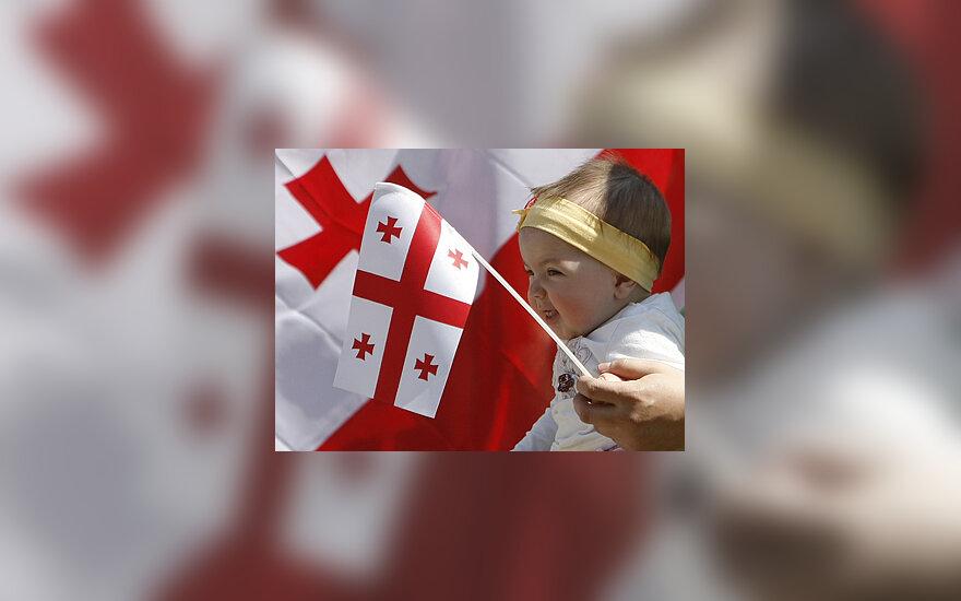 Gruzija, vėliava