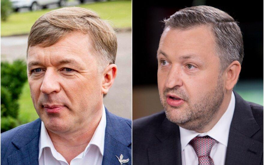 Ramūnas Karbauskis ir Antanas Guoga.