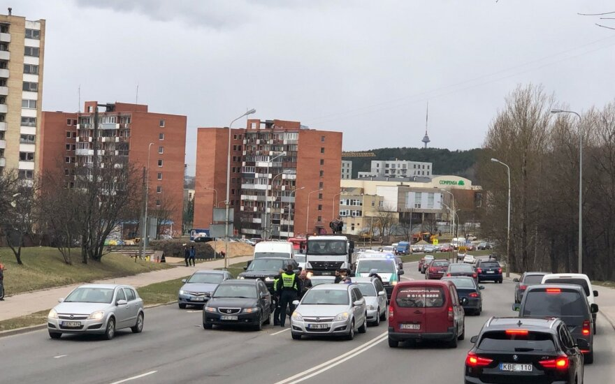 Массовое ДТП в Вильнюсе: образовались заторы