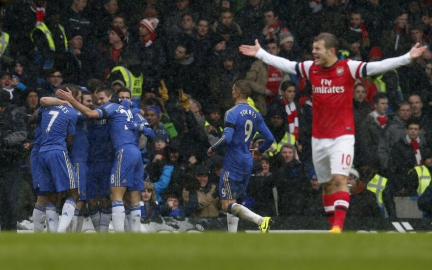 """Chelsea"""" komanda diaugiasi pelnytu įvarčiu"""