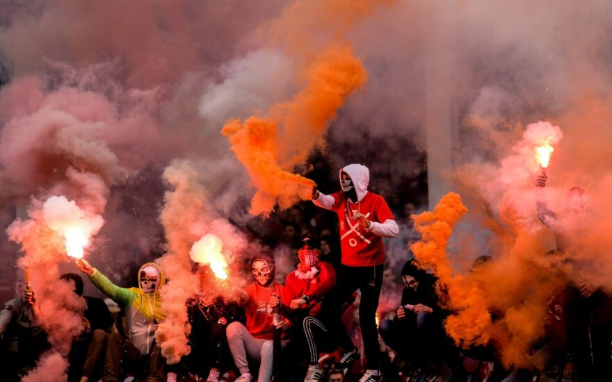 """Maskvos """"Spartak"""" futbolo fanai"""