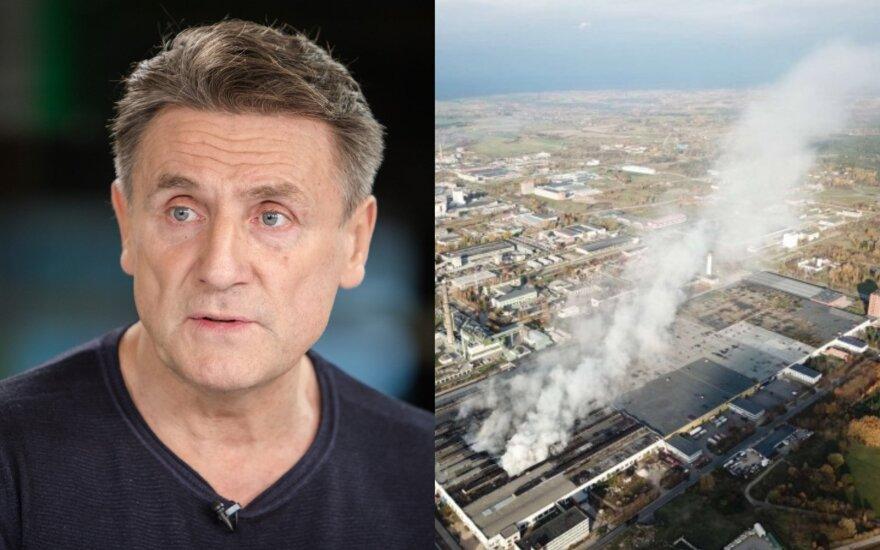 Valdemaras Chomičius apie gaisrą Alytuje
