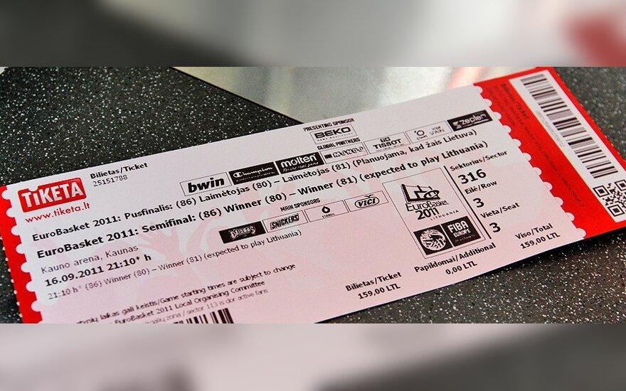Europos čempionato pusfinalio bilietas