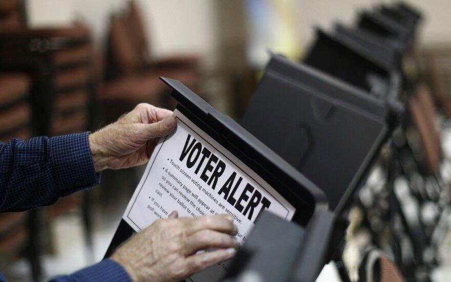 Balsavimas JAV rinkimų apylinkėse