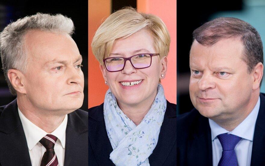 Gitanas Nausėda, Ingrida Šimonytė, Saulius Skvernelis