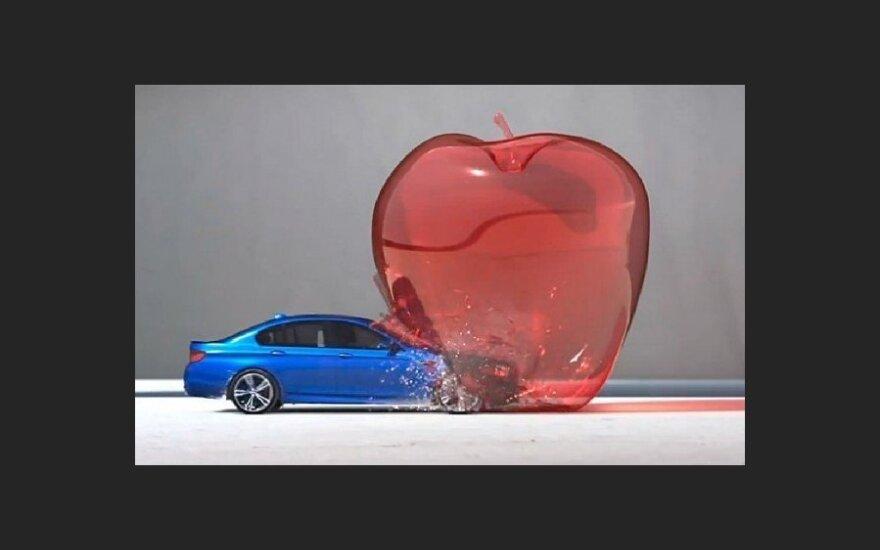 Седан BMW M5 превратился в пулю