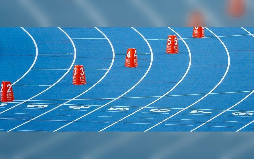 Bėgimas, atletika, sportas, stadionas, sprintas