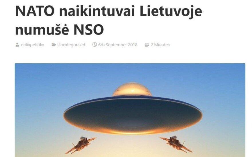Фейк о сбитом самолетом НАТО НЛО в Литве: одна деталь заставляет задуматься