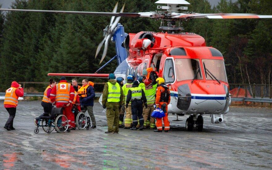 Kruizinio laivo gelbėjimo darbai prie Norvegijos krantų