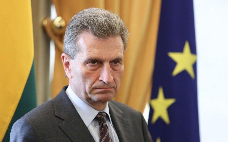 Oettinger: Litwa jest zbyt mała