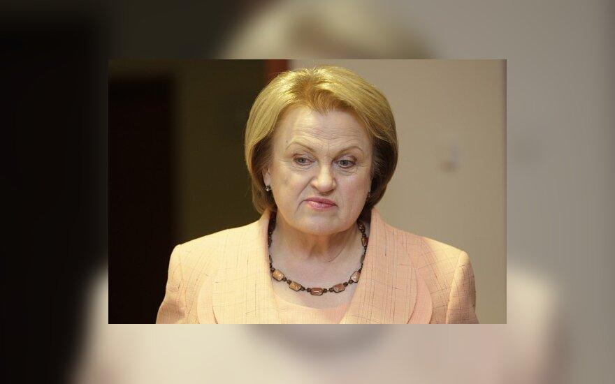 Минюст не зарегистрировал партию Прунскене