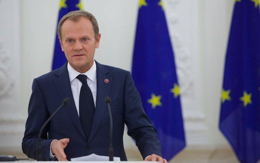 Prezidentė Dalia Grybauskaitė susitiko su Europos Vadovų Tarybos (EVT) pirmininku Donaldu Tusku