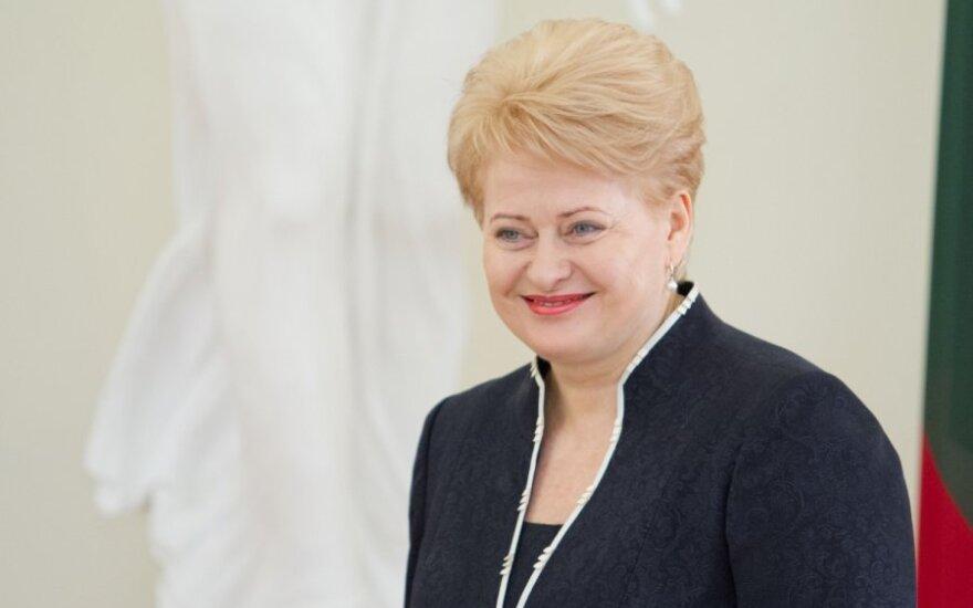 Президент Литвы пожелала, чтобы движущей силой России были принципы свободы и открытости